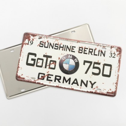 Custom Metal Car Plate