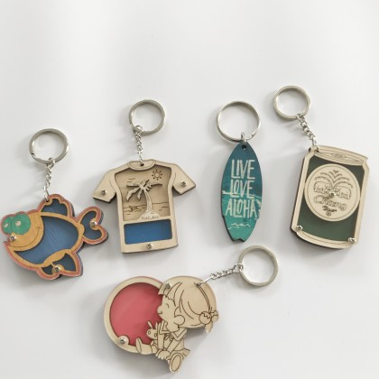 Wooden MDF Key Ring