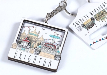 Custom Souvenir Wooden Keychain Wholesale Manufacturer Supplier