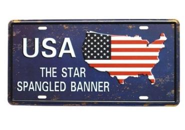 souvenir license plate