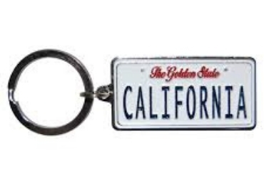 Aluminum License Plate Keychain manufacturer and supplier in China