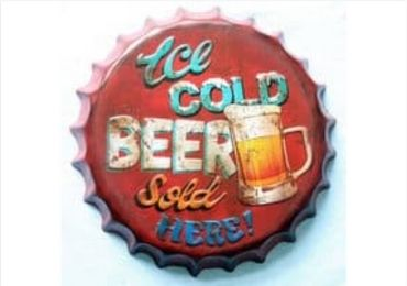 Antique Bottle Cap Sign manufacturer and supplier in China