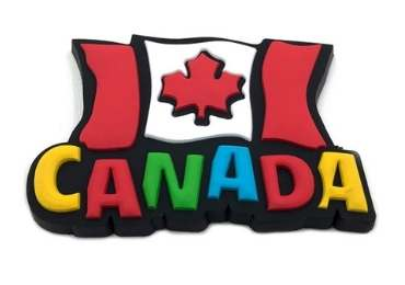 Canada Souvenir Rubber Magnet manufacturer and supplier in China