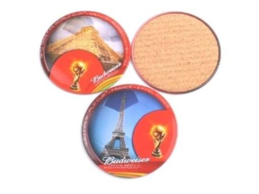 13 - Tin Plate Cork Coaster manufacturer and supplier in China