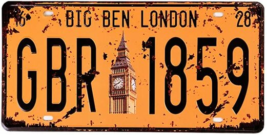 15 - London License Plate manufacturer and supplier in China