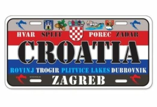 8 - Croatia License Plate manufacturer and supplier in China