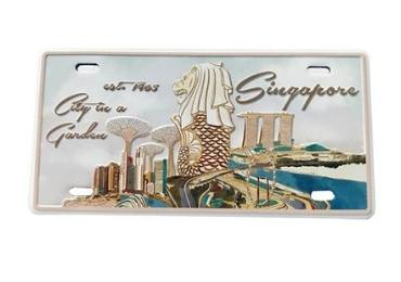 Singapore Souvenir Licence Plate Magnet manufacturer and supplier in China
