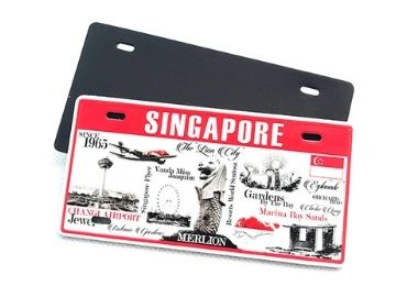 Singapore Souvenir License Plate Magnet manufacturer and supplier in China
