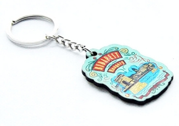 Souvenir MDF Keychain manufacturer and supplier in China