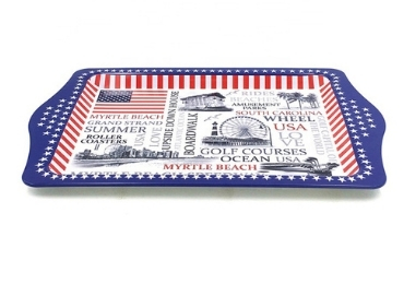 USA Souvenir Metal Tray manufacturer and supplier in China