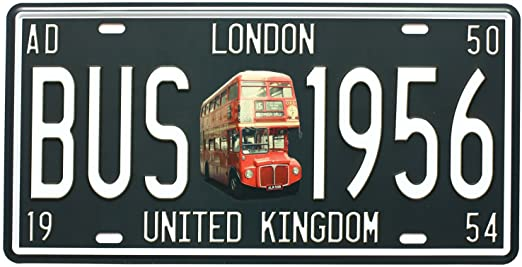 10- London Souvenir License Plate manufacturer and supplier in China