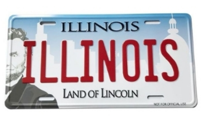 2- Illinois License Plate manufacturer and supplier in China
