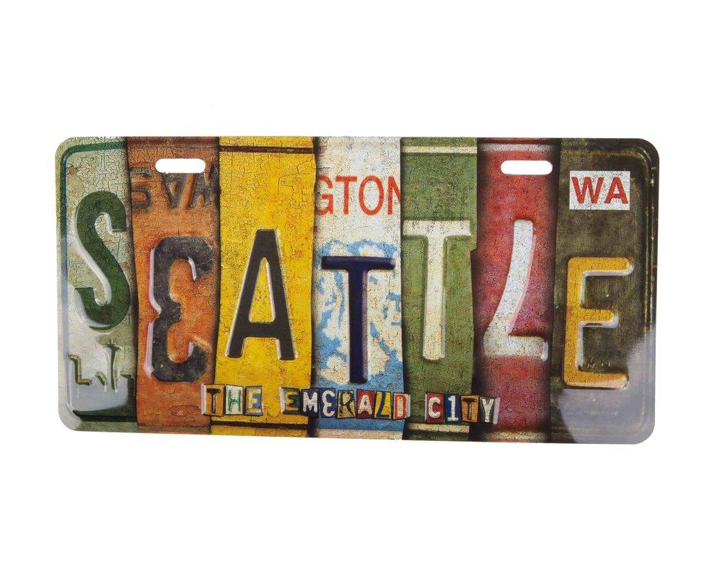 7- Seattle Souvenir License Plate manufacturer and supplier in China