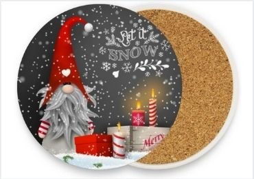 Christmas Ceramic Cork Coaster manufacturer and supplier in China