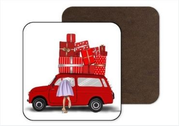 Christmas Cork MDF Coaster manufacturer and supplier in China