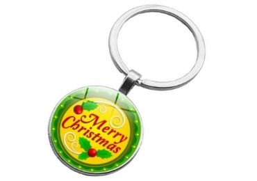 Christmas Epoxy Keyring manufacturer and supplier in China
