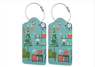 Christmas Leather Luggage Tag manufacturer and supplier in China