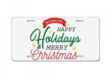 Christmas Metal License Plate manufacturer and supplier in China