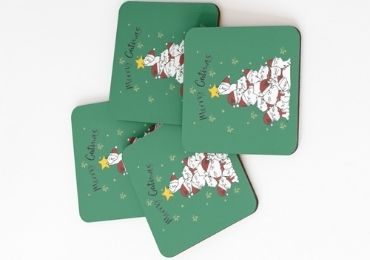 Christmas Paper Coaster manufacturer and supplier in China