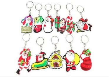 Christmas Rubber Keyring manufacturer and supplier in China