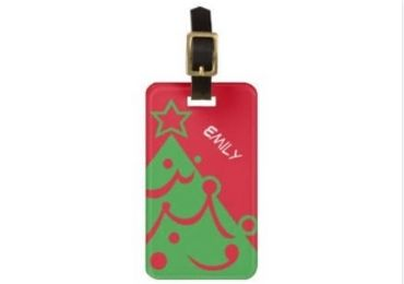 Christmas Rubber Luggage Tag manufacturer and supplier in China