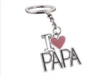 Father's Day Enamel Keychain manufacturer and supplier in China