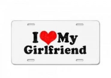 Girlfriend Gift License Plate manufacturer and supplier in China