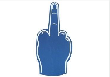 Palm Printed Foam Middle Fingers manufacturer and supplier in China