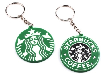 Starbucks soft PVC Keychain manufacturer and supplier in China