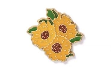 Sunflower Lapel Pin manufacturer and supplier in China