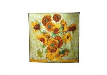 Sunflower Silk Scarf manufacturer and supplier in China
