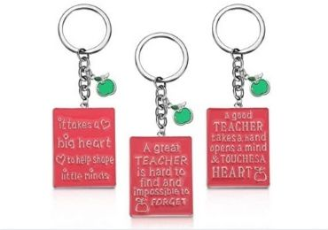 Teacher Gift Metal Keychain manufacturer and supplier in China