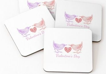 Valentine's Day MDF Coaster manufacturer and supplier in China