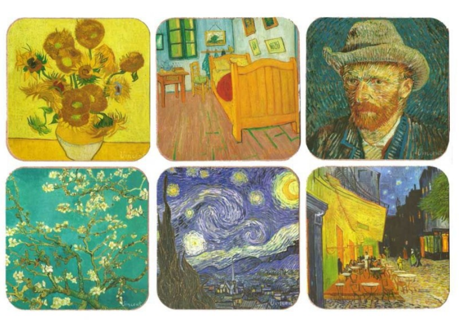 Van Gogh Gift Cork Coaster manufacturer and supplier in China