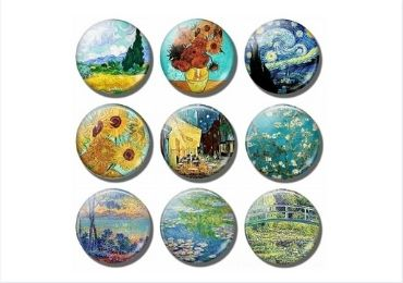 Van Gogh Glass Magnet manufacturer and supplier in China