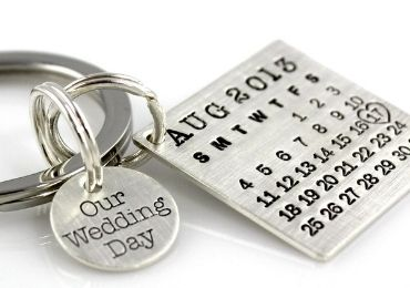 Wedding Day Metal Keychain manufacturer and supplier in China