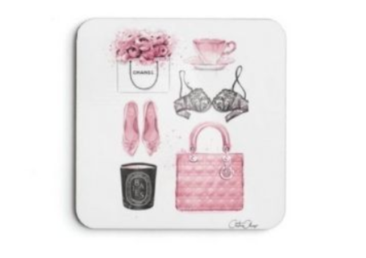 11 - CHANEL Cork Coaster manufacturer and supplier in China