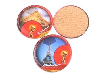 13 - Tinplate Cork Souvenir Coaster manufacturer and supplier in China