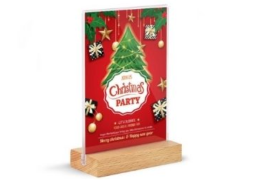 24 - Christmas Acrylic Menu manufacturer and supplier in China