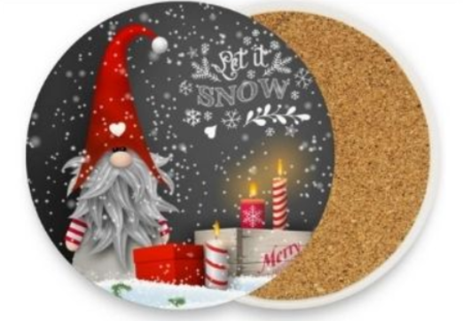 29 - Christmas Ceramic Cork Coaster manufacturer and supplier in China