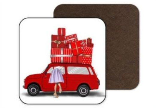 31 - Christmas Cork MDF Coaster manufacturer and supplier in China