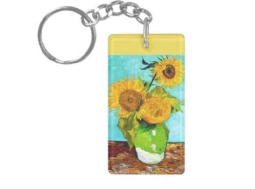35 - Sunflower Keychain manufacturer and supplier in China