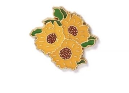 36 - Sunflower Lapel Pin manufacturer and supplier in China