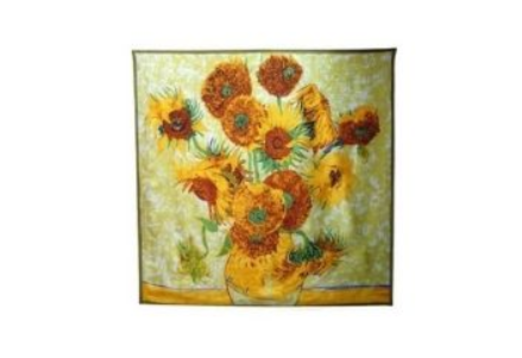 37 - Sunflower Silk Scarf manufacturer and supplier in China