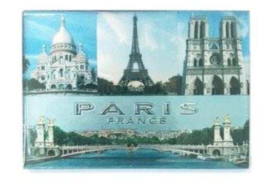 38 - Paris Souvenir Aluminum Foil Magnet manufacturer and supplier in China