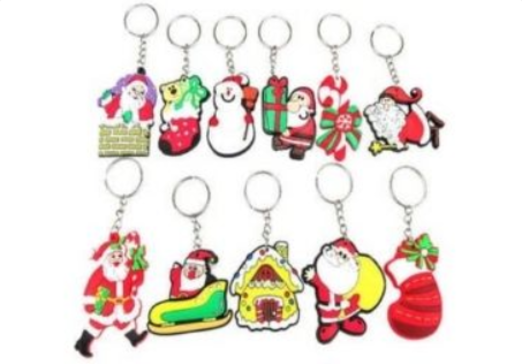 46 - Christmas Rubber Keyring manufacturer and supplier in China