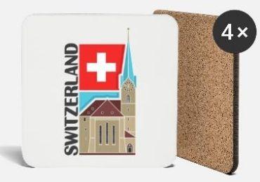 Switzerland Souvenir Coaster manufacturer and supplier in China