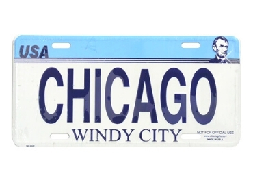 Chicago Souvenir License Plate manufacturer and supplier in China