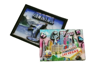 12 - CMYK Printed MDF Souvenir Magnet manufacturer and supplier in China