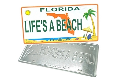 Florida Souvenir License Plate manufacturer and supplier in China